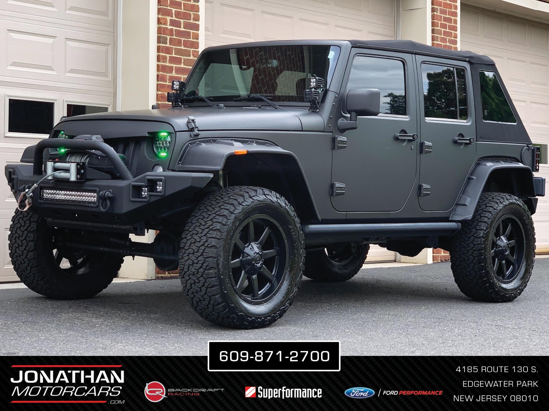 Used 2015 Jeep Wrangler Unlimited Rubicon JMC Custom | Edgewater Park, NJ