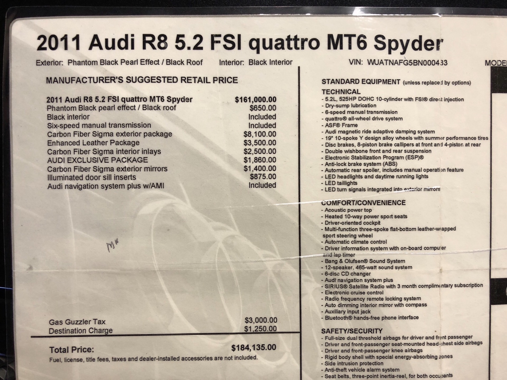 Used-2011-Audi-R8-52-quattro-Spyder