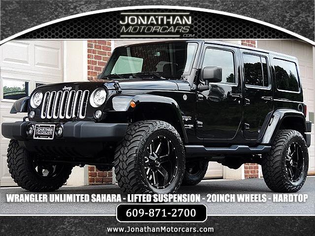 Used 2018 Jeep Wrangler Unlimited Sahara LIFTED HARDTOP | Edgewater Park, NJ