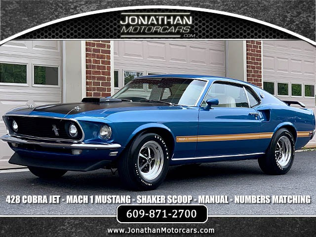 1969 Ford Mustang Mach 1 428 Cobra Jet Stock 168618 For