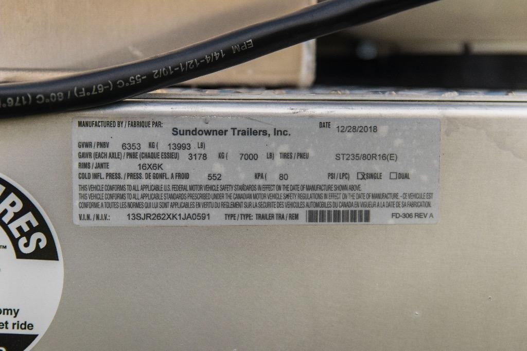 New-2019-Sundowner-26860MBP-26'-Toy-Hauler